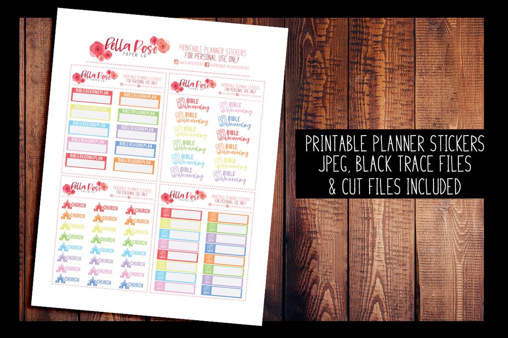 Church/ Bible Journaling Planner Stickers | PRINTABLE PLANNER STICKERS