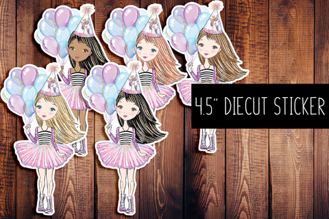 Birthday Girl Diecut Sticker
