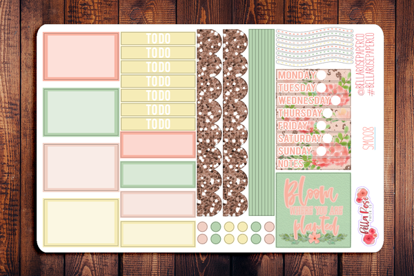 Blush Florals Mini Happy Planner Sticker Kit SM008