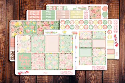 Blush Florals Planner Sticker Kit SM008