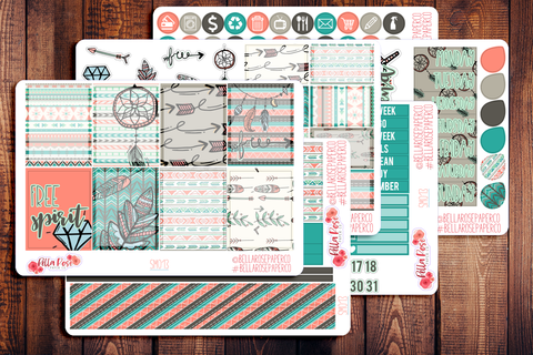 Bohemian Trend Planner Sticker Kit SM013