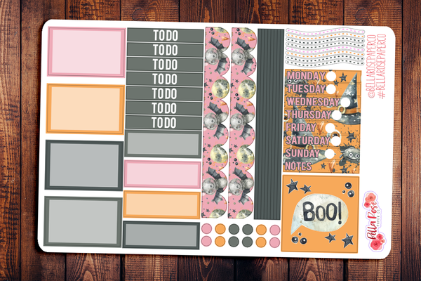 Boo Pastel Mini Happy Planner Sticker Kit F015