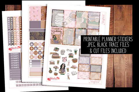 Book Babe Happy Planner Kit | PRINTABLE PLANNER STICKERS