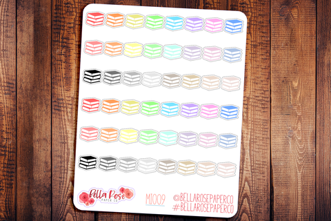 Book Mini Icon Planner Stickers MI009