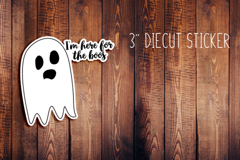 Halloween Ghost Diecut Sticker