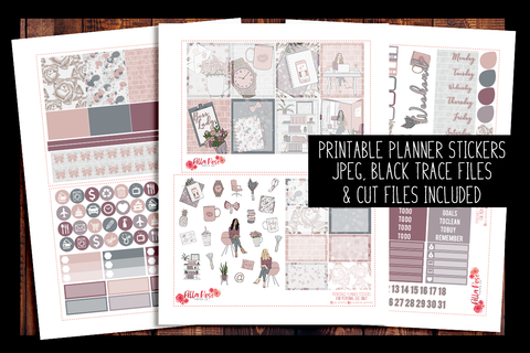 Boss Lady Planner Kit | PRINTABLE PLANNER STICKERS