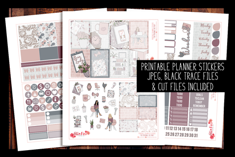 Boss Lady Happy Planner Kit | PRINTABLE PLANNER STICKERS