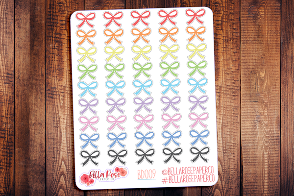 Bow Icon Planner Stickers BD009