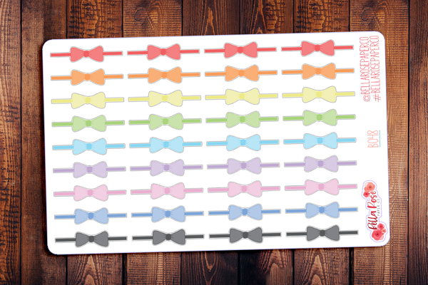 Bow Divider Planner Stickers B048
