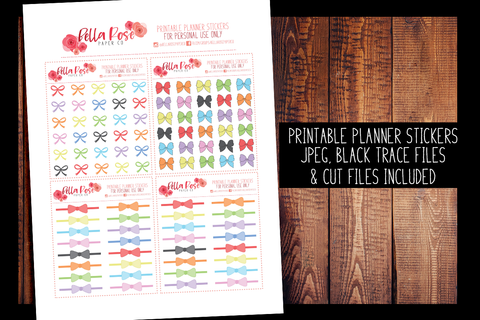 Bow Planner Stickers | PRINTABLE PLANNER STICKERS