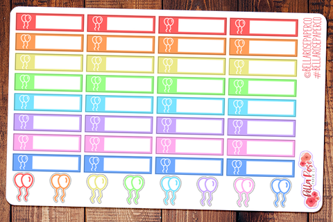 Balloon Label Planner Stickers