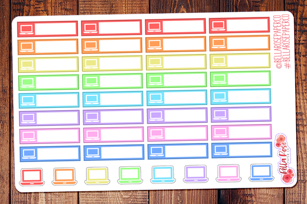 Computer Label Planner Stickers