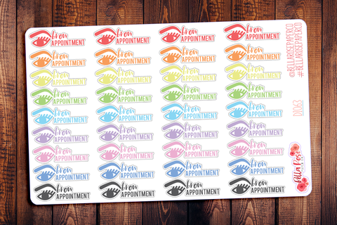 Brow Appointment Planner Stickers DI063