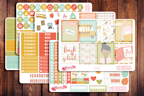 Back To School Planner Sticker Kit BTS001