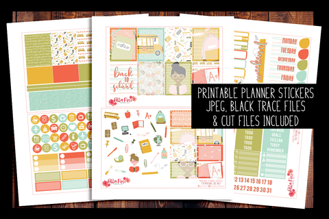 Back To School Kit | PRINTABLE PLANNER STICKERS