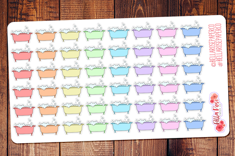 Bubble Bath/Spa Day Planner Stickers