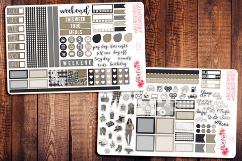 Live Cozy Hobonichi Weeks Sticker Kit F307