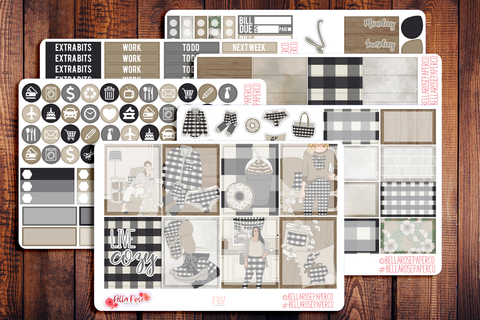 Live Cozy Planner Sticker Kit F307