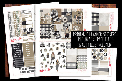 Live Cozy Happy Planner Kit | PRINTABLE PLANNER STICKERS
