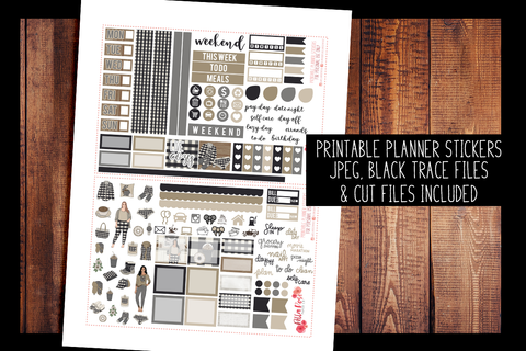 Live Cozy Hobonichi Weeks Kit | PRINTABLE PLANNER STICKERS