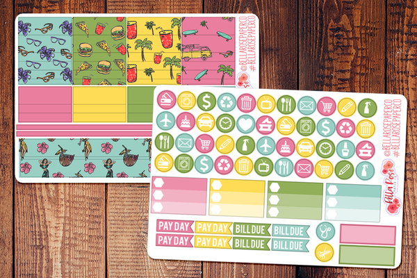 California Love Planner Sticker Kit