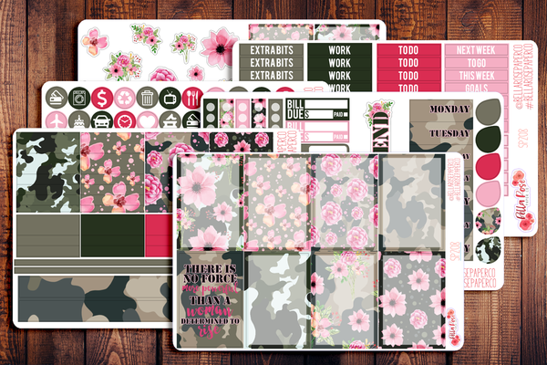 Camo Grilboss Planner Sticker Kit SP208