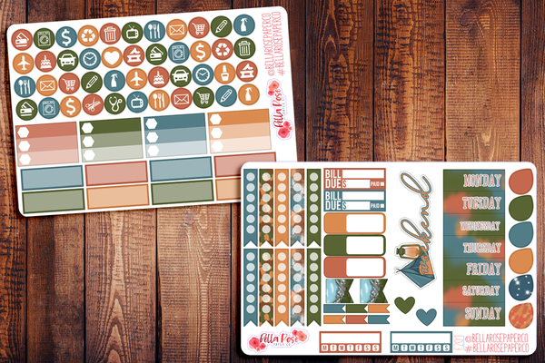 Camping Planner Sticker Kit F201