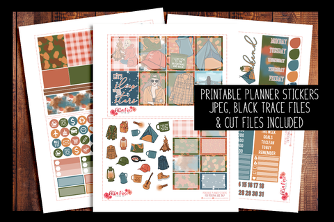 Camping Planner Kit | PRINTABLE PLANNER STICKERS