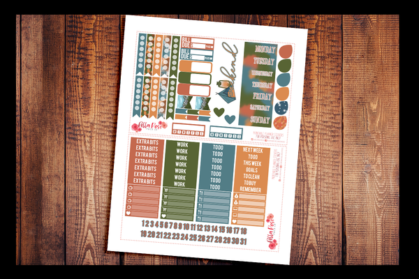 Camping Happy Planner Kit | PRINTABLE PLANNER STICKERS
