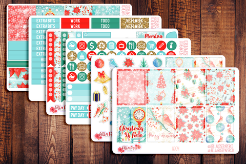 Christmas Cardinal Planner Sticker Kit W004