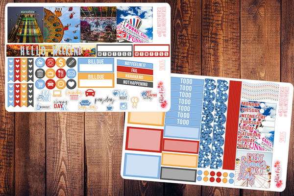 County Fair Photography Mini Happy Planner Sticker Kit SM005