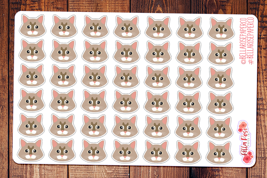 Maine Coon Cat Pet Planner Stickers