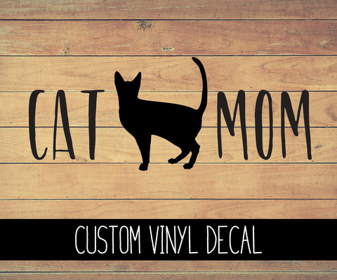 Cat Mom Vinyl Decal