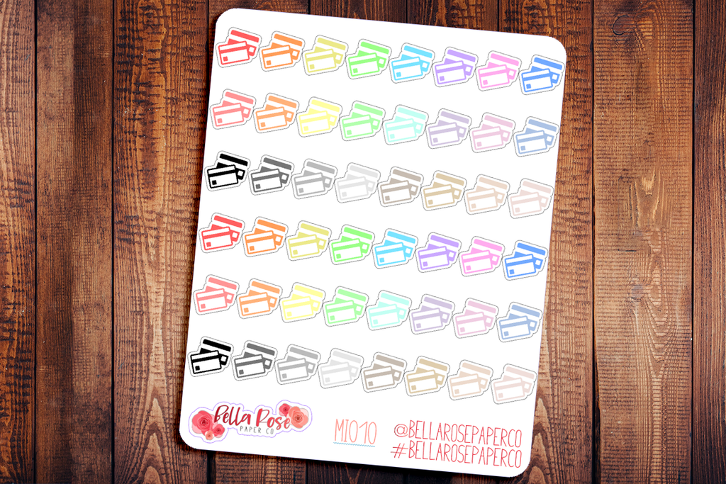 Credit Card Mini Icon Planner Stickers MI010