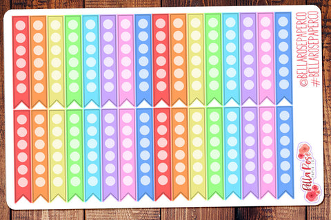 Checklist Flag Planner Stickers