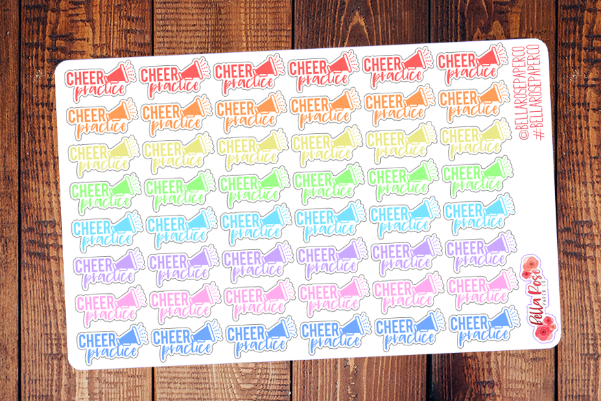 Cheer Practice Lettering Planner Stickers DI004