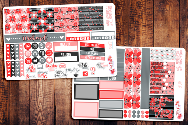 Cherry Blossom Mini Happy Planner Sticker Kit SP007
