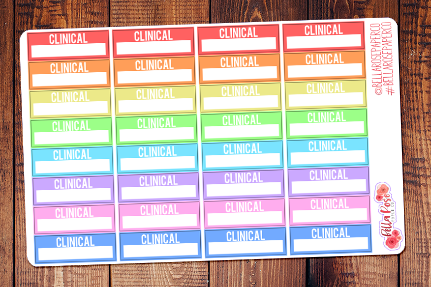 Clinical Box Nursing Student Planner Stickers S004