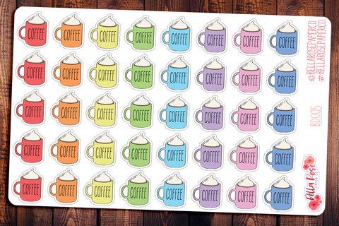 Coffee Mug Planner Stickers BD005