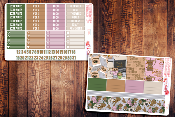 Coffee Planner Sticker Kit SM003