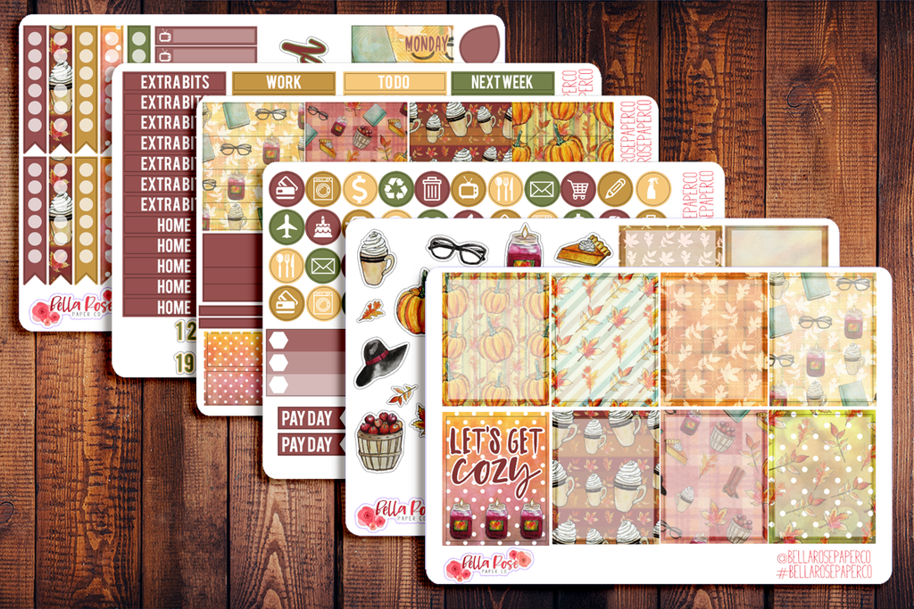 Cozy Autumn Day Planner Sticker Kit F007