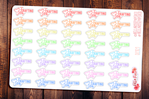 Crafting Day Planner Stickers DI101