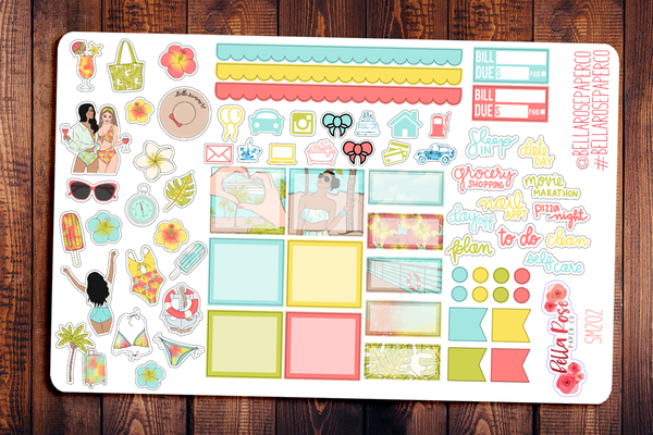 Cruise Vacation Hobonichi Weeks Sticker Kit SM202