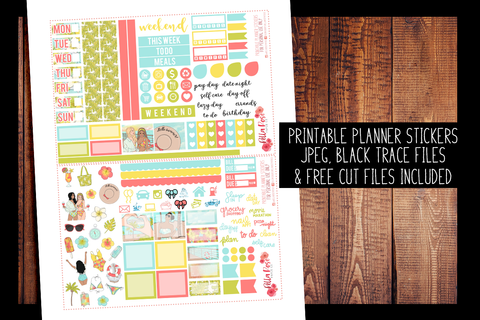 Cruise Vacation Hobonichi Weeks Kit | PRINTABLE PLANNER STICKERS
