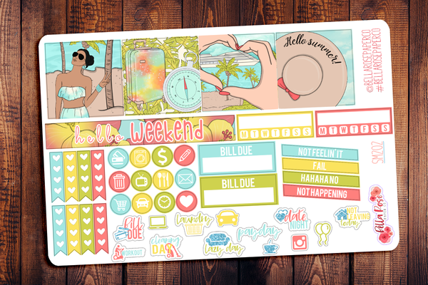 Cruise Vacation Mini Happy Planner Sticker Kit SM202