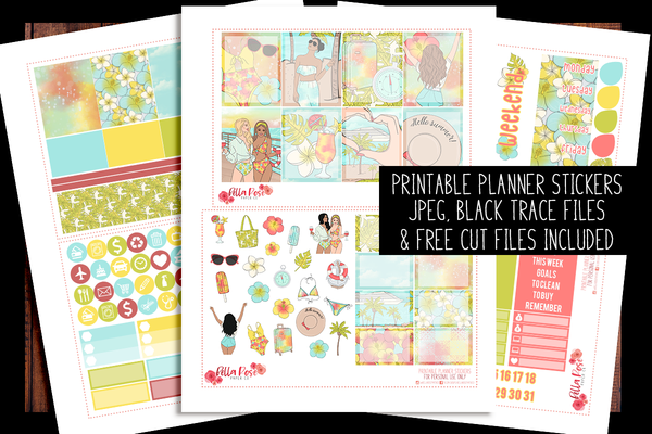 Cruise Vacation Planner Kit | PRINTABLE PLANNER STICKERS