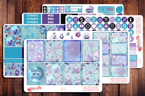 Crystal Nights Planner Sticker Kit SM006