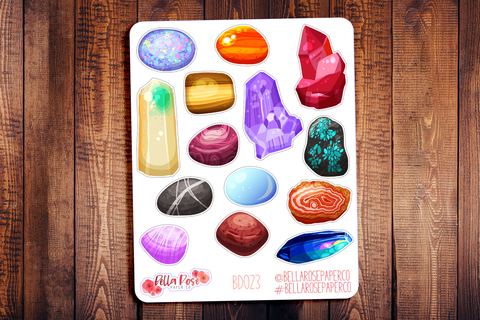 Crystal Stones Planner Stickers BD023