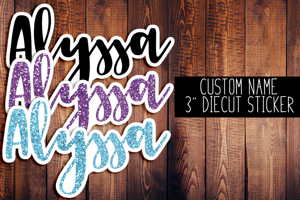 Custom Name Diecut Sticker F2