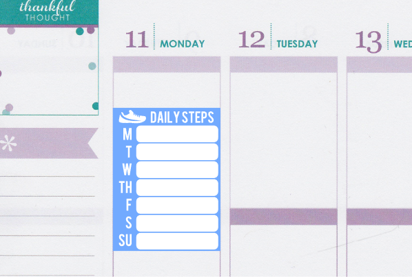 Weekly Steps FitBit Tracking Planner Stickers